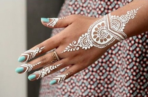 Captivating White Arabic Mehndi Designs