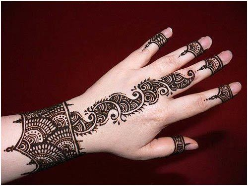 Dramatic Arabic Mehndi Designs