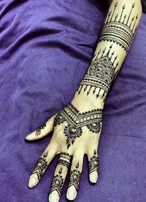 Fantastic Hand and Arm Arabic Mehndi Designs