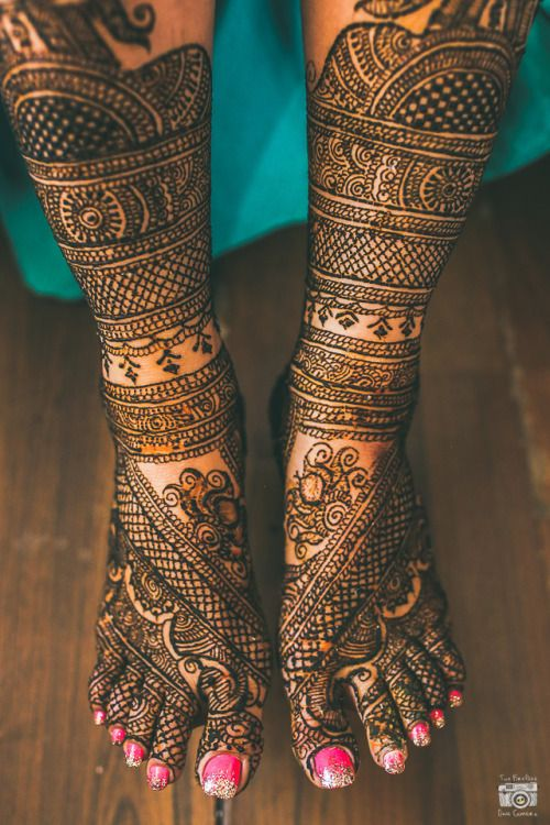 Foot Arabic Mehndi Designs