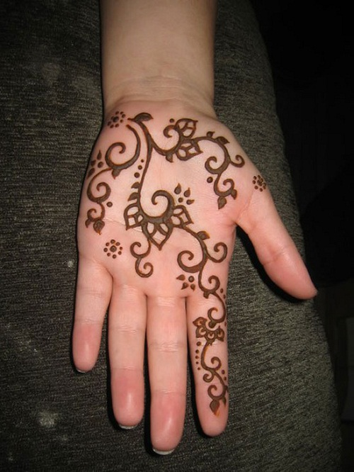 Hand Simple Mehndi Designs