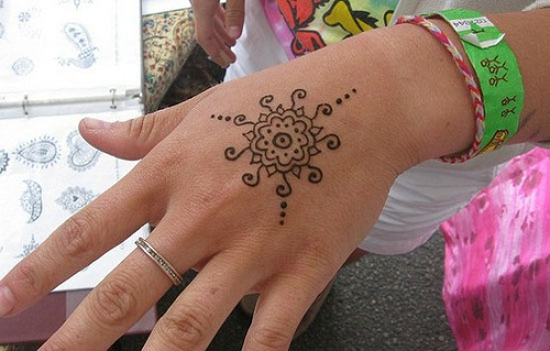Heart on Hand Simple Mehndi Designs