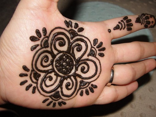 Palm Simple Mehndi Designs
