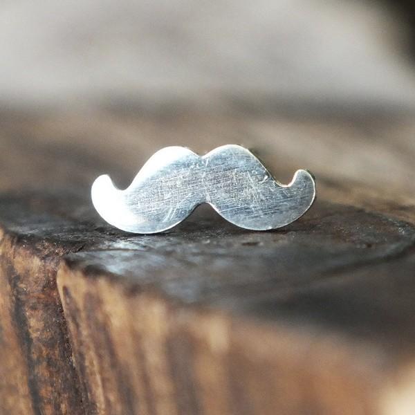 Silver Mustache Medusa Piercing