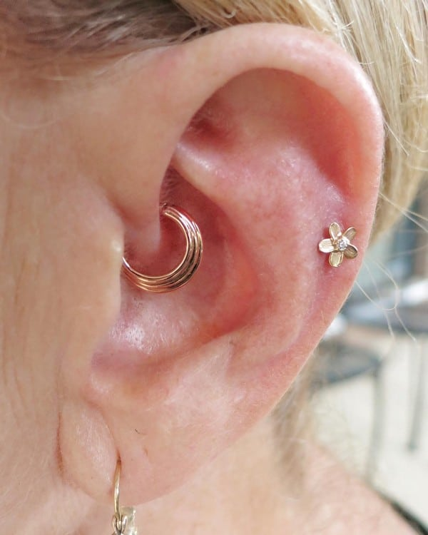 Rose Gold Daith Piercing
