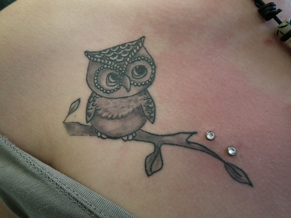 Owl Tattoo Dermal Anchor
