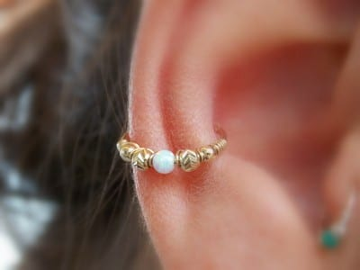 Twisted Conch Piercing