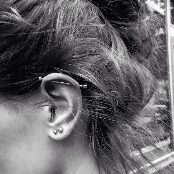 3 Piercings In Ear