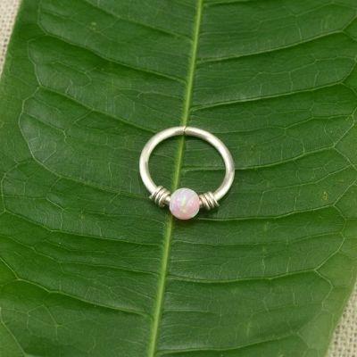 Pink Fire Opal Tragus Stud