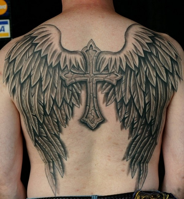 Angel And Devil Wings Tattoo