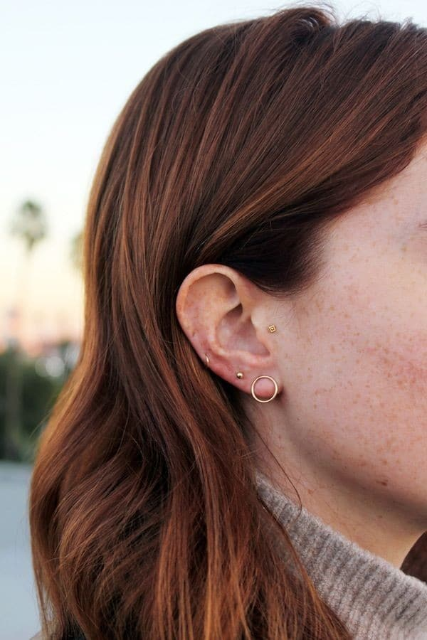 Cool Ear Lobe Piercings