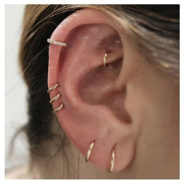 Ear Piercings On Both Ears