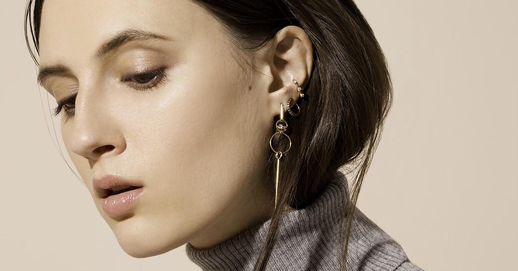 Multiple Ear Piercings Women