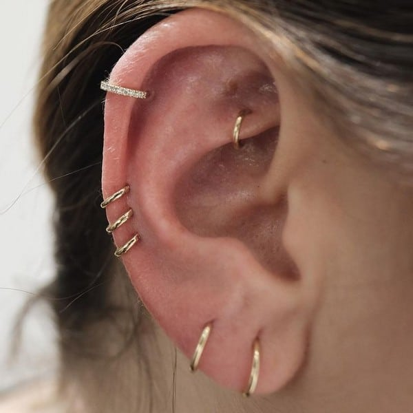 Piercings On Ear