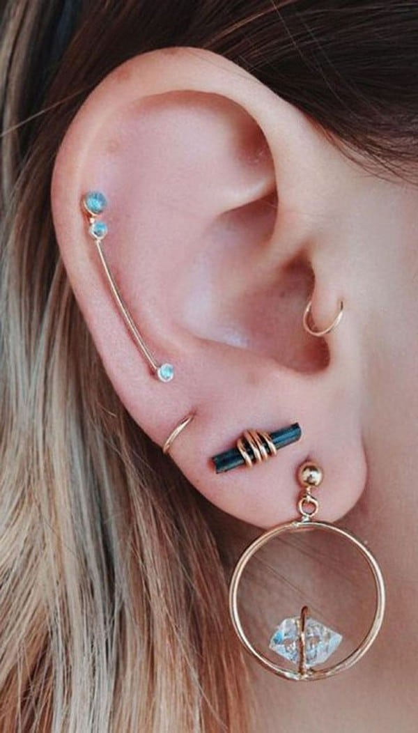 Two Ear Piercings