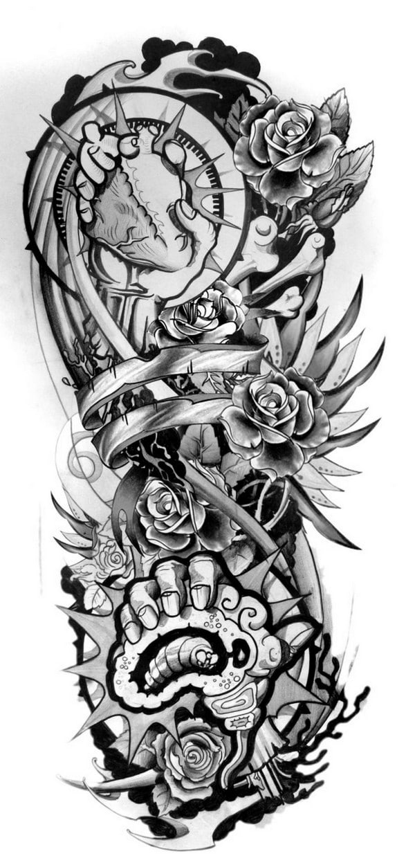 Tattoo Sleeve Sketches: 110+ Half Sleeve Tattoos For Men And Women [2018]
