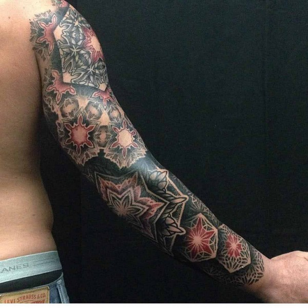 Lower Arm Sleeve Tattoo