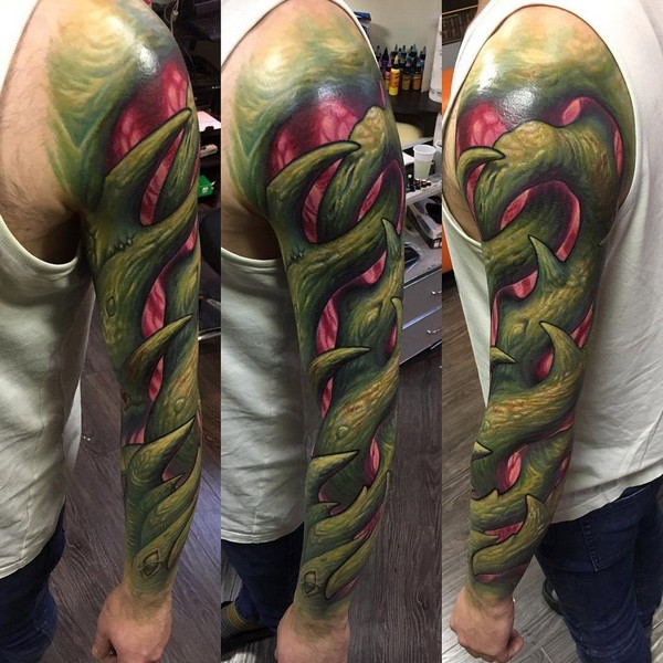 Tribal Half Sleeve Arm Tatttoo