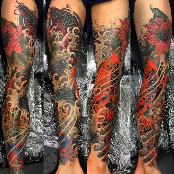 Back Leg Tattoos Sleeve