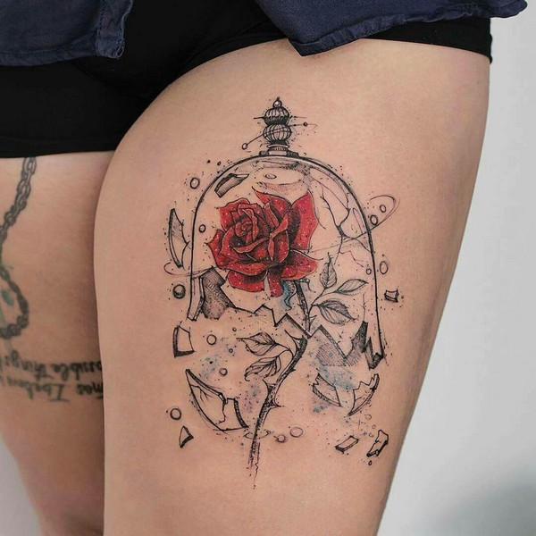 Beautiful Rose Tattoo Designs