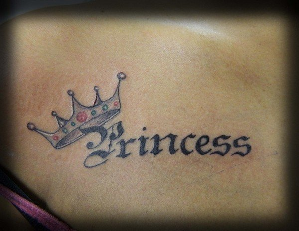 Crown Tattoo Designs For Girl