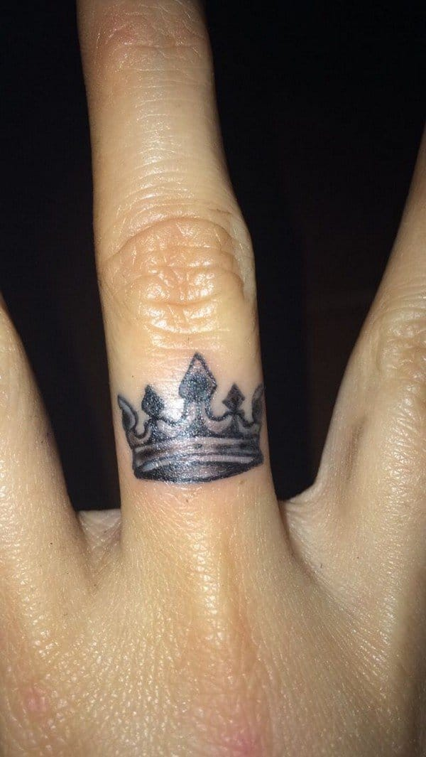 Crown Tattoo In Hand