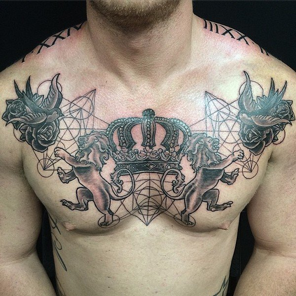 Crown Tattoo On Forehead