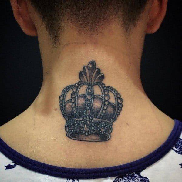 Crown Tattoo With Flowers