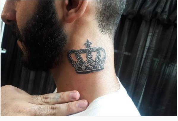 Crown Tattoo With Initials