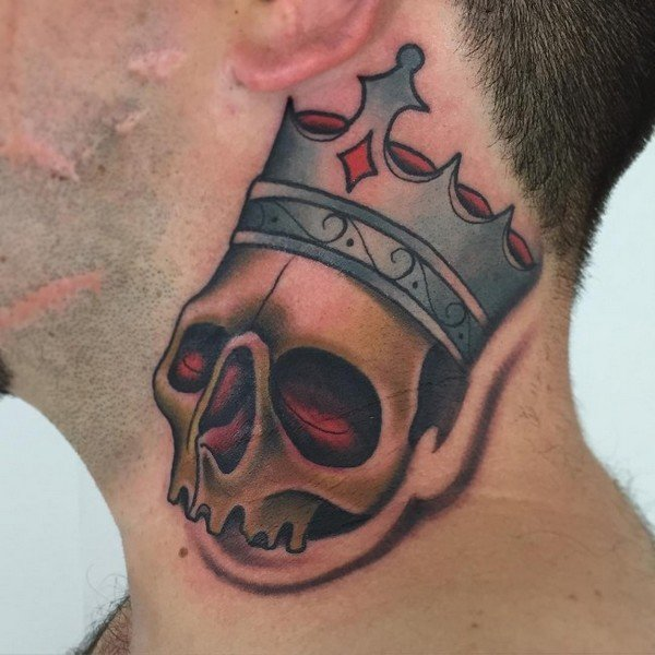 Crown Tattoo With Roman Numerals
