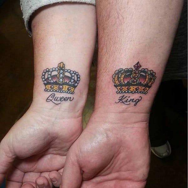 Justin Bieber Crown Tattoo