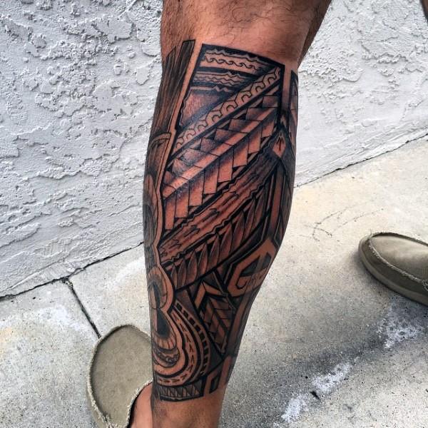 Leg 3D Tattoo