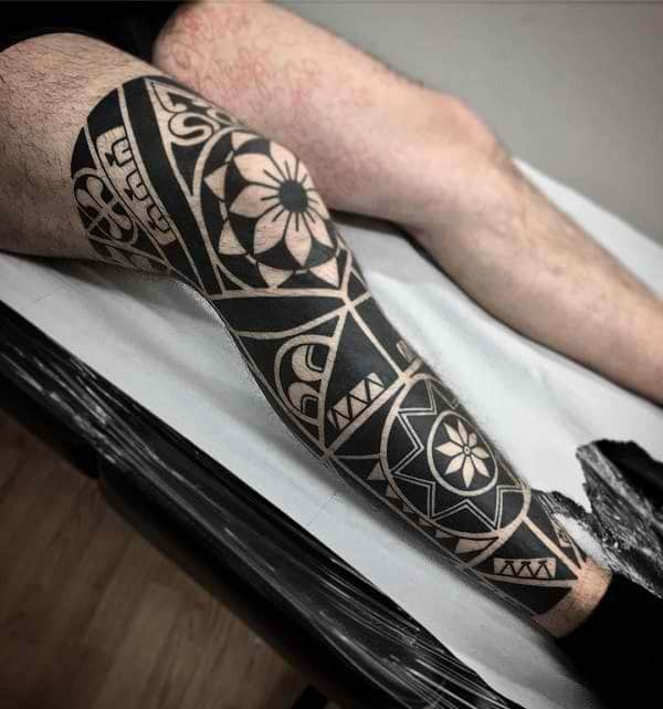Leg Tattoos Flowers