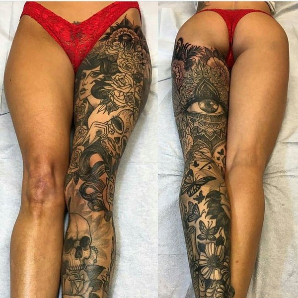Leg Tattoos For Girls