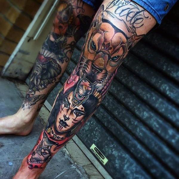 Small Leg Tattoos For Ladies