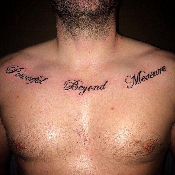 Collar Bone Roman Numeral Tattoo