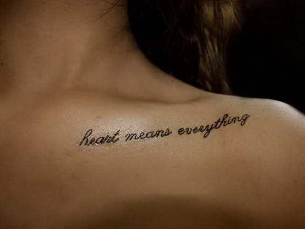 Collarbone Name Tattoos