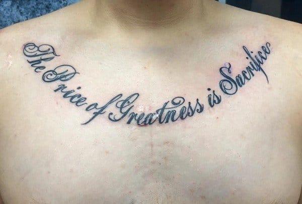 Girl Collarbone Tattoo