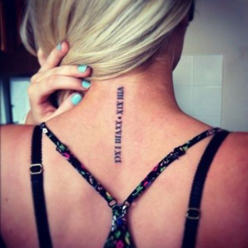 Best Roman Numeral Tattoo Font