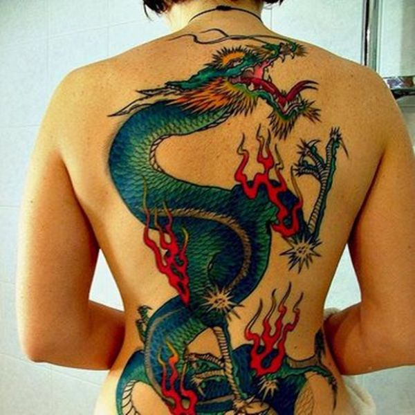 Dragon Tattoos On Back Ideas Drawing Meaning