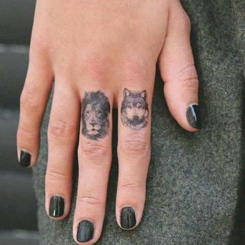 Lion Finger Tattoo Pictures