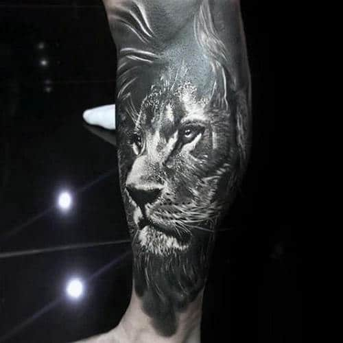 Lion Tattoo On Thigh Meaning