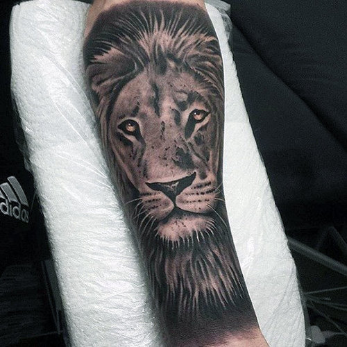 Traditional Lion Tattoo Sleeve