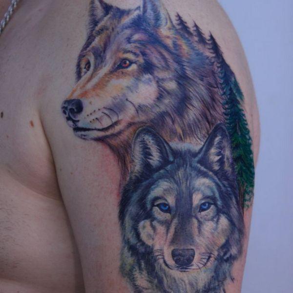 Best Realistic Wolf Tattoo
