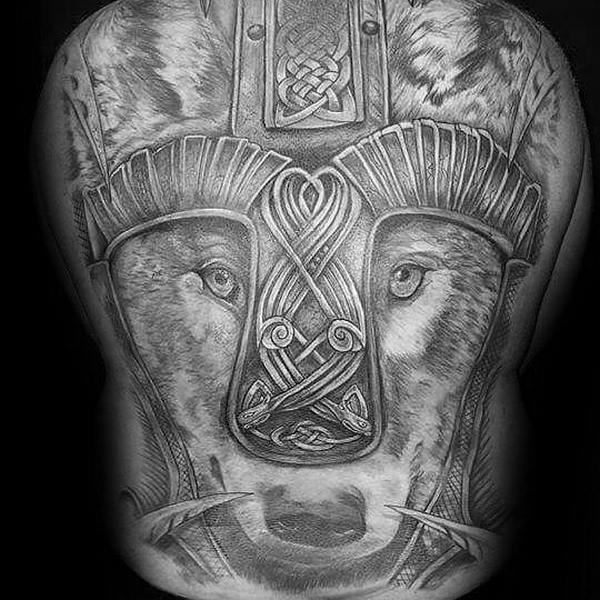 Celtic Wolf Tattoo Symbol