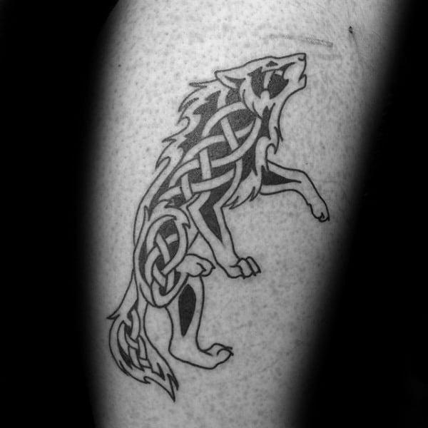 Celtlc Wolf Tattoos Design