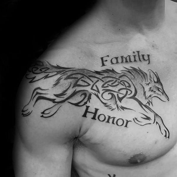 Celtlc Wolf Tattoos Designs