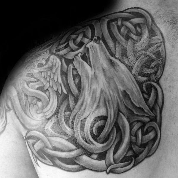 Celtic Wolf Tattoos Symbol