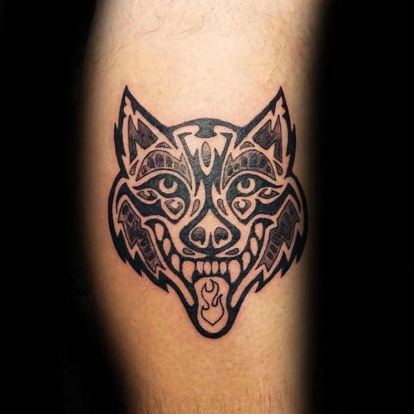 Cool Tribal Wolf Tattoos