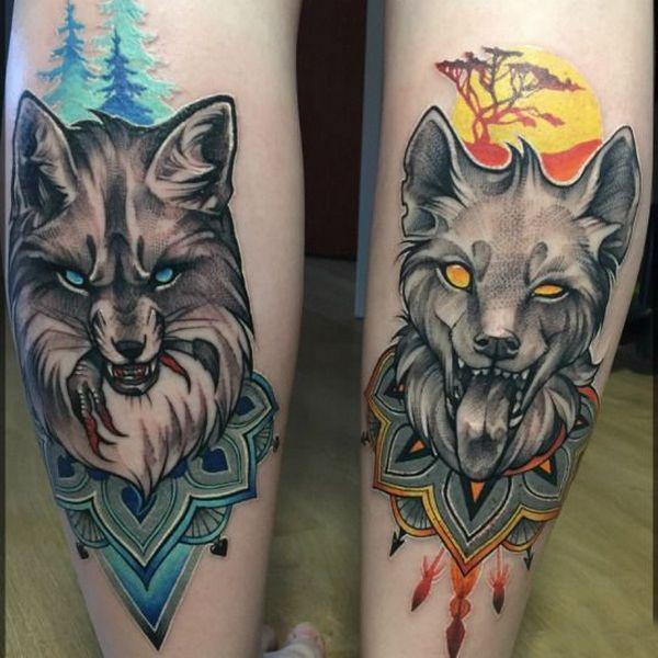 Couple Wolf Tattoo